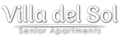 Property logo, at Villa Del Sol, Santa Maria California