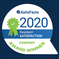 2020 Resident satisfaction award