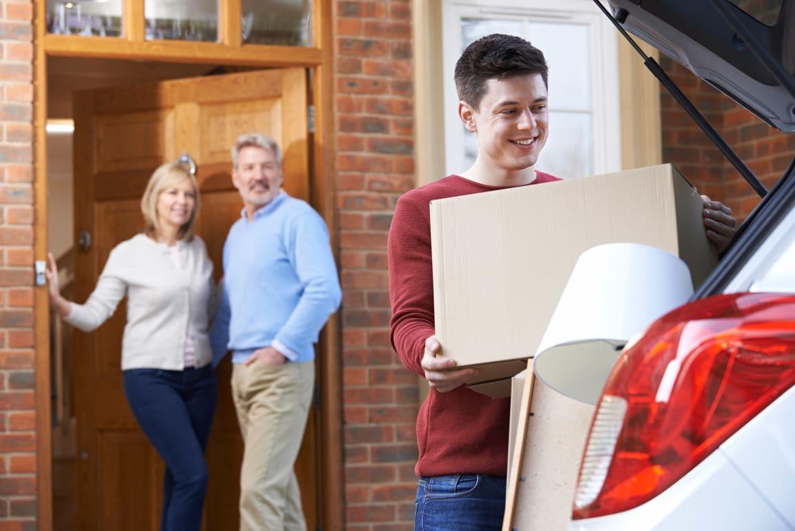 Adult son leaving parents home