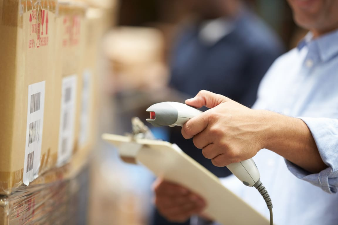 Person Scanning Shipments