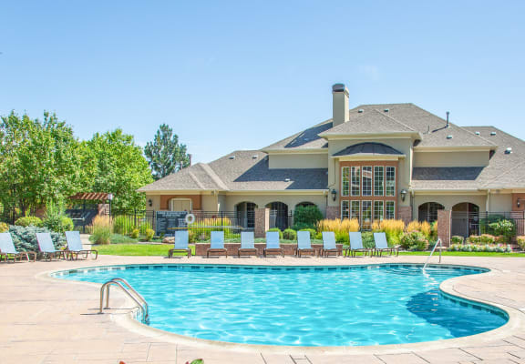 Outdoor Swimming Pool at Indigo Creek Apartments, Thornton, Colorado