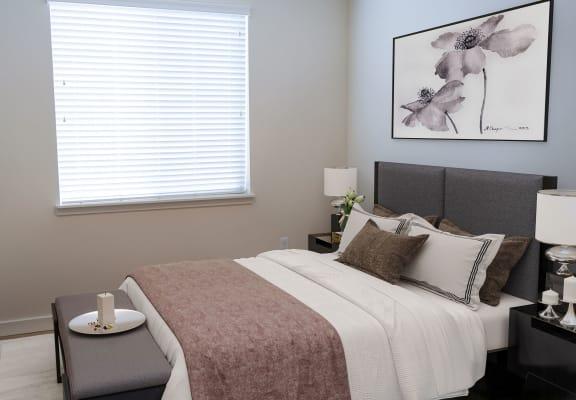 Beige Carpet In Bedroom at Falls at Riverwoods Apartments & Townhomes, Logan, UT