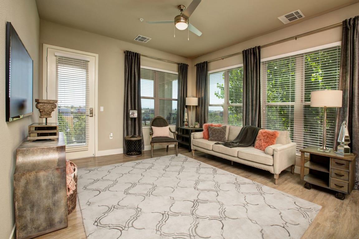 BDX at Capital Village | Living Room (furnished)