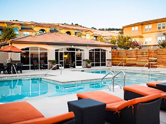 Pool and Lounge Chairs l Lesarra Apartment in El Dorado Hills Ca
