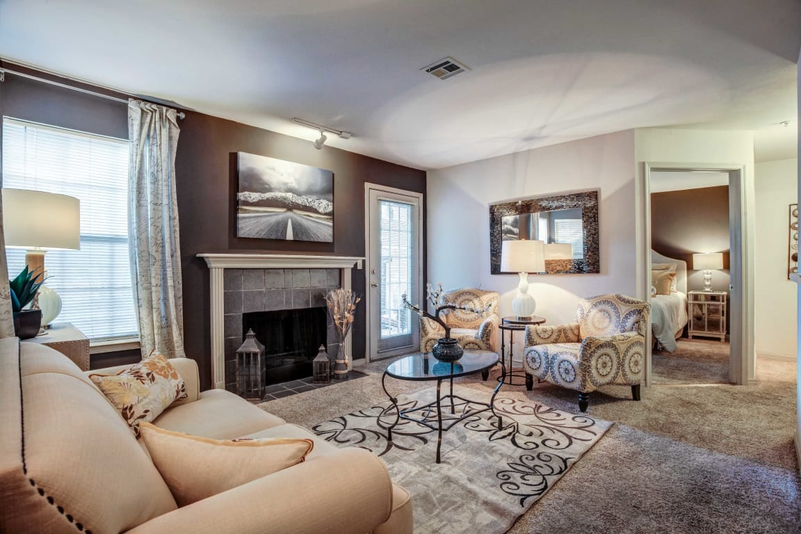 Riverside Park Apartments Interior With Fireplace
