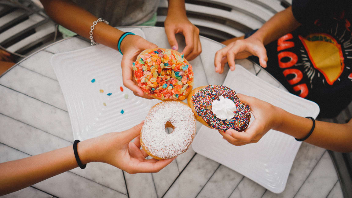 friends with donuts Meridian Place Apartments in Northridge