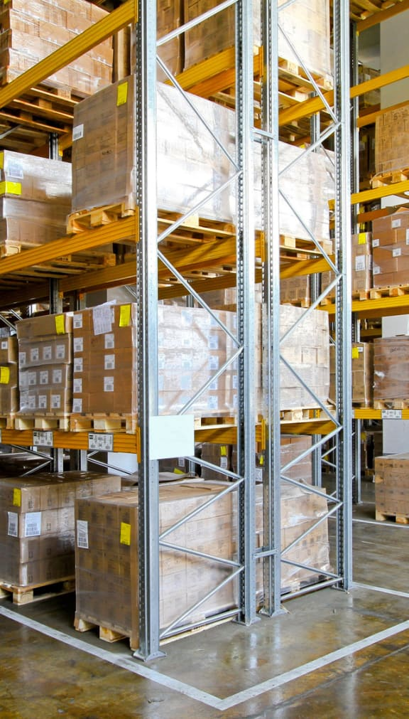 Aisles Of Warehouse Inventory