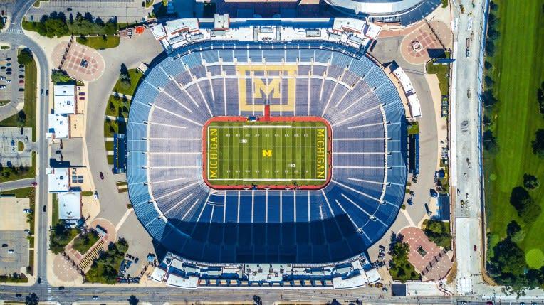 Michigan Stadium in downtown Ann Arbor