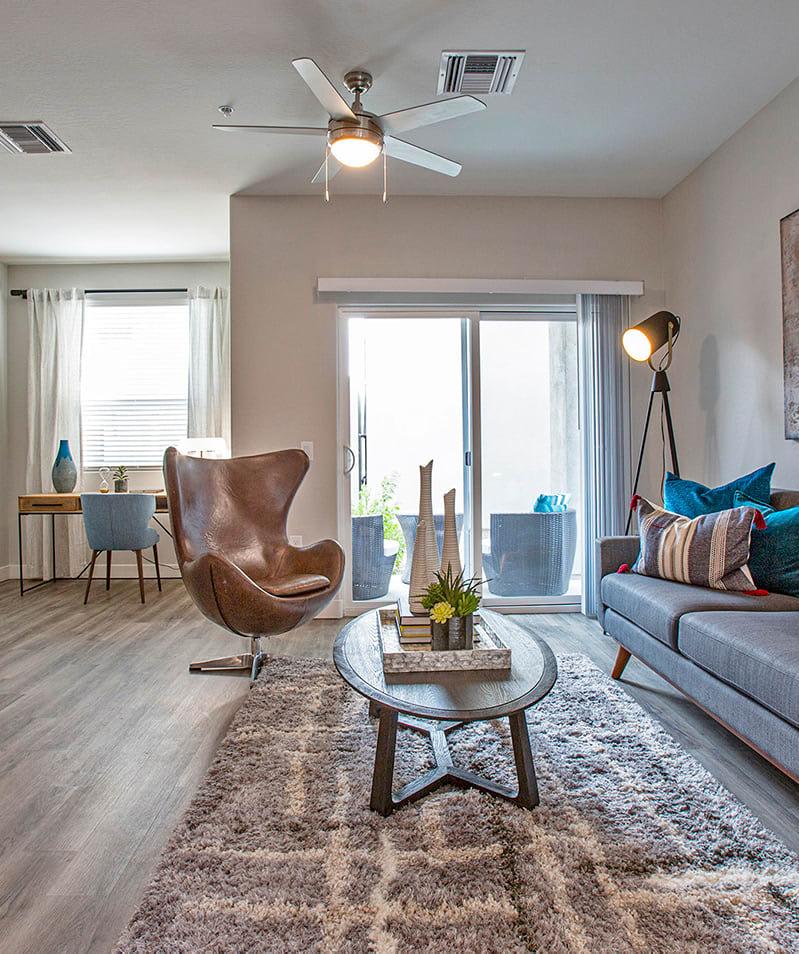 Living room at Senderos at South Mountain in Phoenix AZ
