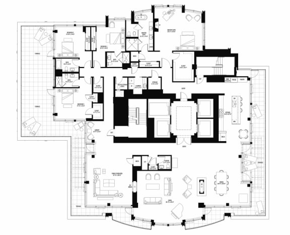 North 3301 penthouse at The Bravern, Bellevue, WA