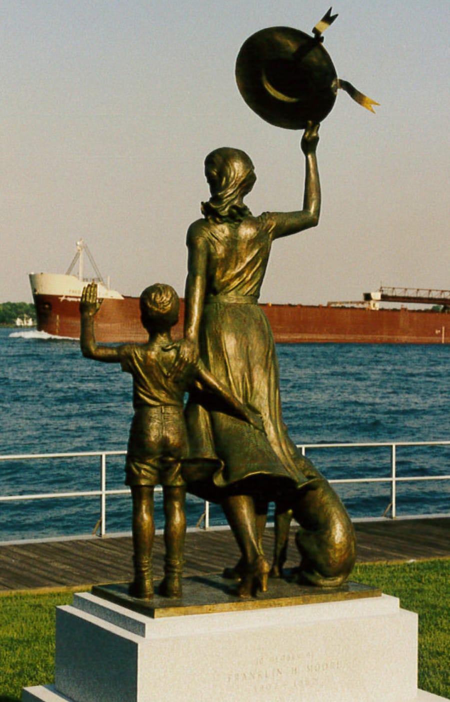 Classical harbor statue at Dutton Estates, St. Clair, MI, 48079