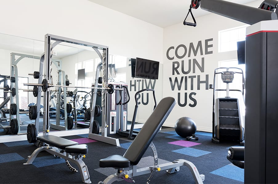 Fitness Center With Modern Equipment at Rivulet Apartments, Utah