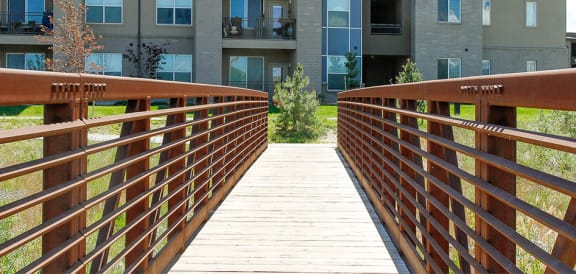 Wooden Bridge at Lofts at 7800 Apartments, Midvale