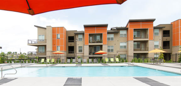 Outdoor Swimming Pool at Lofts at 7800 Apartments, Utah