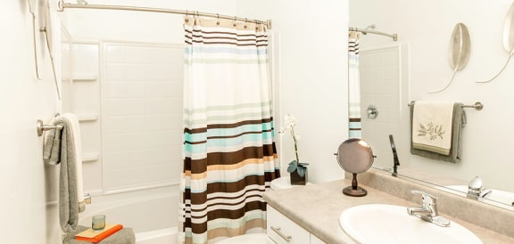 Bathroom With Bathtub at Parc at Day Dairy Apartments & Townhomes, Draper