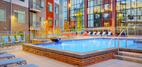 Relaxing Swimming Pool at Element 31Apartments, Salt Lake City, UT, 84106