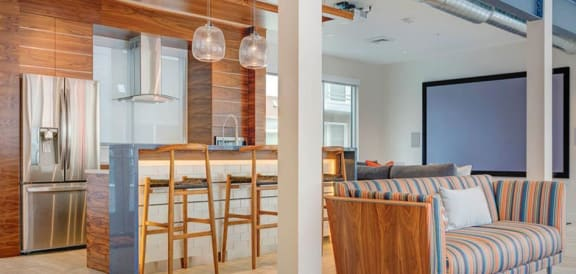 Fully Equipped Kitchen In Clubhouse at Element 31Apartments, Utah
