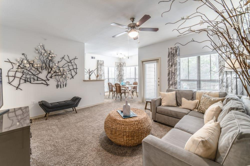 Living Room at Ethos Apartments, Texas, 78744