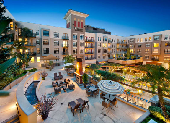 Magnificent Courtyard at Terraces at Paseo Colorado, 375 E. Green Street, Pasadena