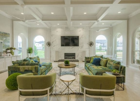 Community Clubhouse With Tv at Berkshire Woodland, Conroe, 77384