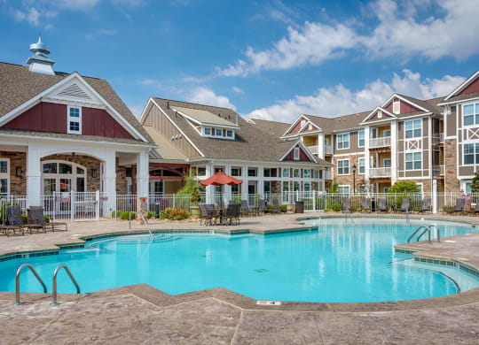 Pool at luxury apartments in Charlotte NC