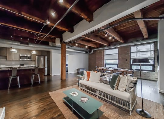 Open Floor Plans at the Lofts at Gin Alley, Chicago, IL 60607