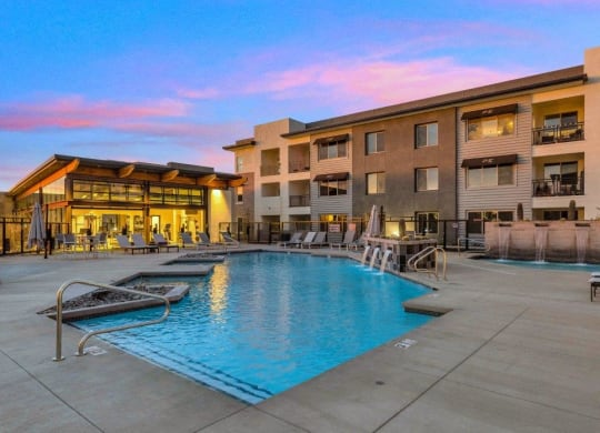 Resort Inspired Pool with Sundeck at The Premiere at Eastmark Apartments, Mesa, AZ