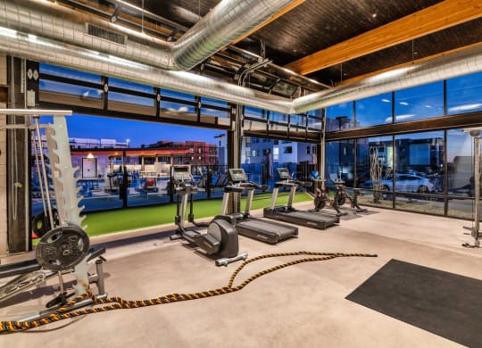State Of The Art Fitness Center at The Premiere at Eastmark Apartments, Mesa