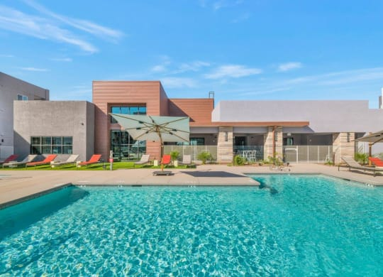 Glimmering Pool at Grayson Place Apartments, P.B. BELL Assets Management, Arizona