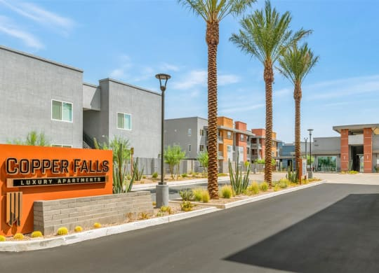 Welcoming Property Signage at Copper Falls Apartments, PB Bell, Glendale