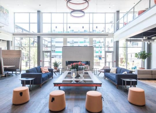 The Foundry Lobby and Lounge The Foundry at 41st New Apartments, Lawrenceville 15201