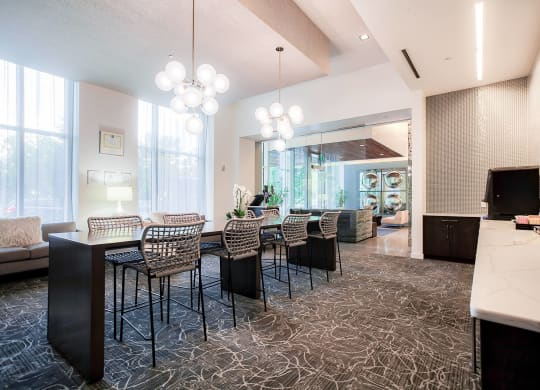 Complimentary coffee and tea at Waterside Place by Windsor, Boston, Massachusetts