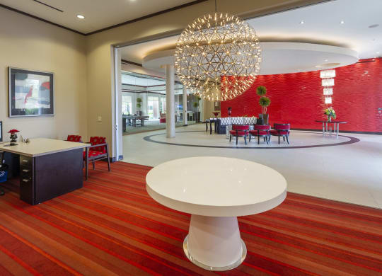 Leasing office at Domain by Windsor,1755 Crescent Plaza, Houston, TX Dramatic Foyer