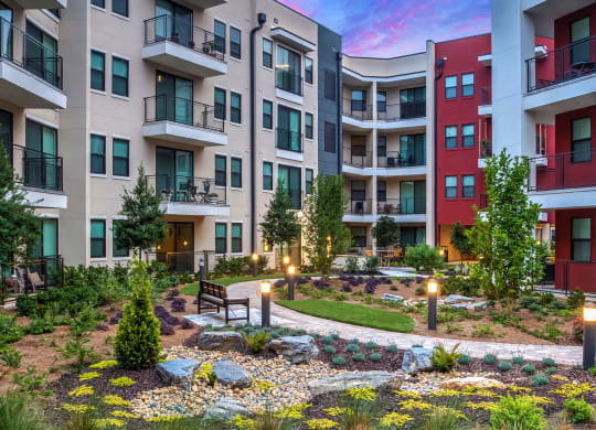 Exterior Courtyard at The Encore by Windsor, Georgia, 30339