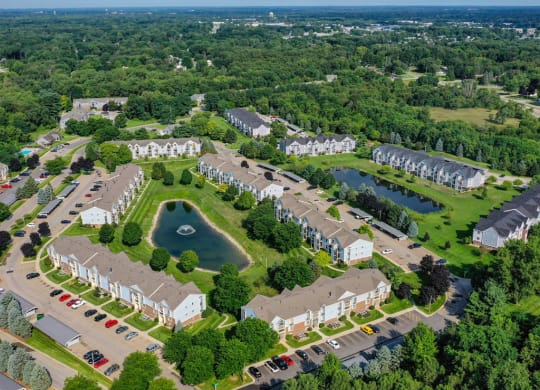 Aerial View Of Property at Arbor Lakes Apartments, Indiana