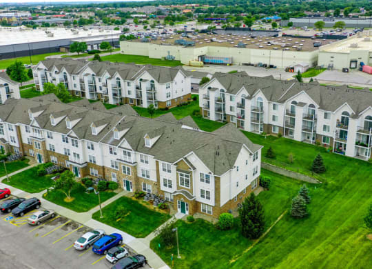 Aerial View Of The Community at Black Sand Apartment Homes, Lincoln, NE
