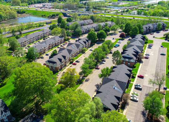 Aerial View Of The Community at Concord Place Apartments, Kalamazoo, MI, 49009