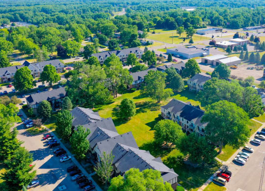 Aerial View Of The Community at Fairlane Apartments, Springfield, 49037
