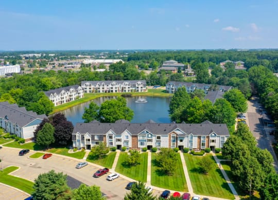 Aerial View of Beautiful Community at Windmill Lakes Apartments in Holland, MI