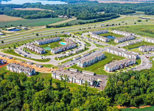 Bird's Eye View of Property at Limestone Creek Apartment Homes, Alabama