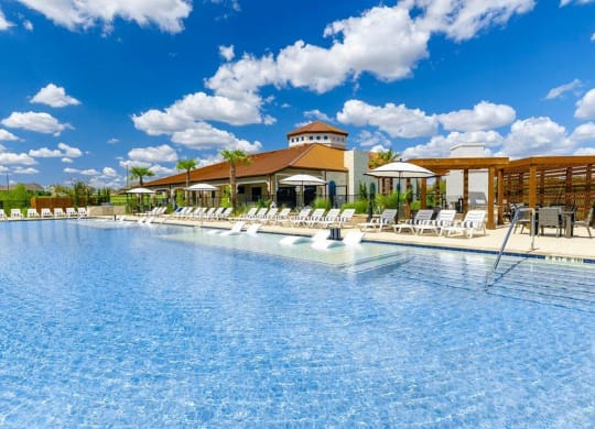 Extensive Resort Inspired Pool Deck at Villages of Georgetown, Texas, 78626