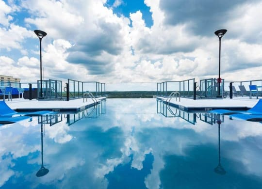 Rooftop Saline Pool With Clear Edge at Azure on The Park, Georgia, 30309