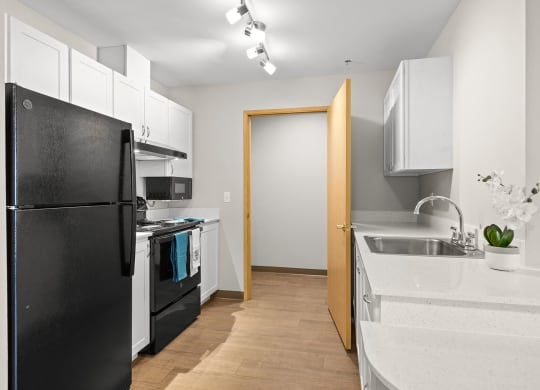 Upgraded Kitchen and Washer Dryer at Auburn Apartments in Auburn WA