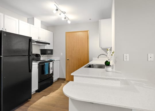 Upgraded Kitchen at Meridian Court Apartments in Federal Way WA