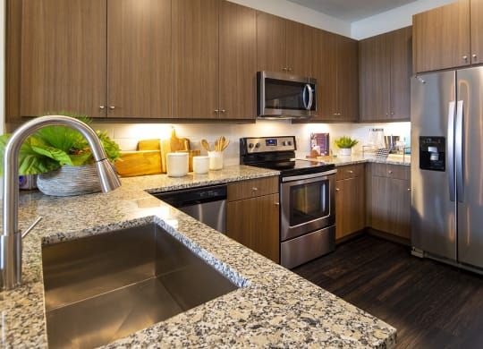 granite countertops and stainless steel