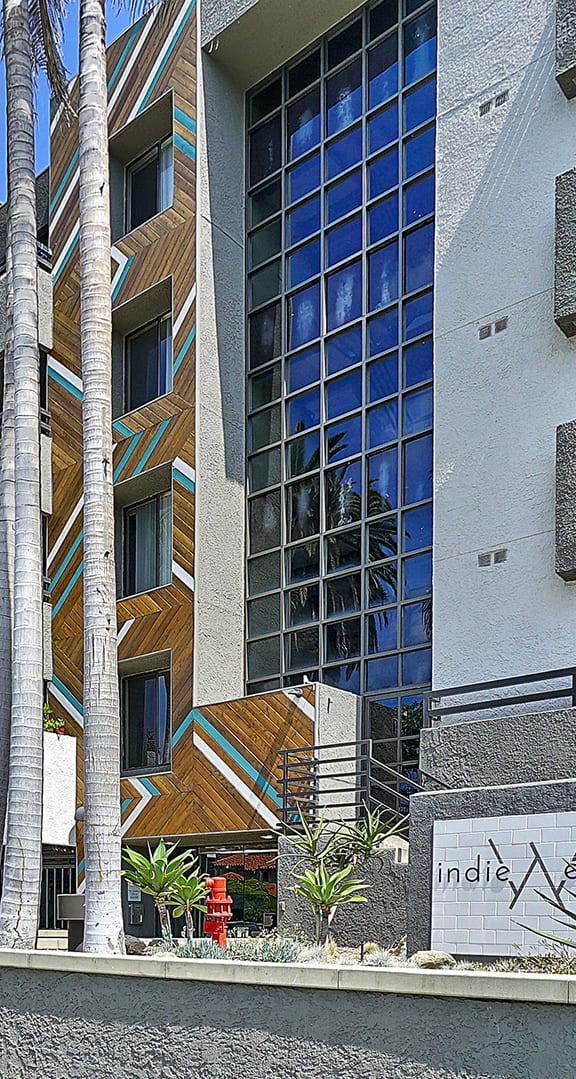 Indie Westside exterior building planters