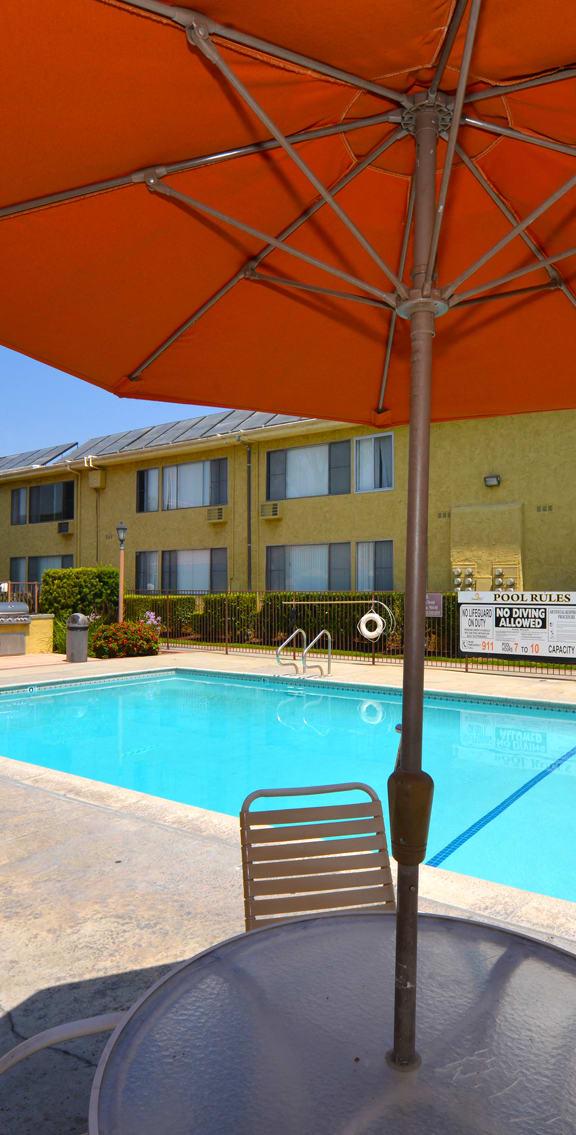 Tierra Del Sol pool umbrellas view two