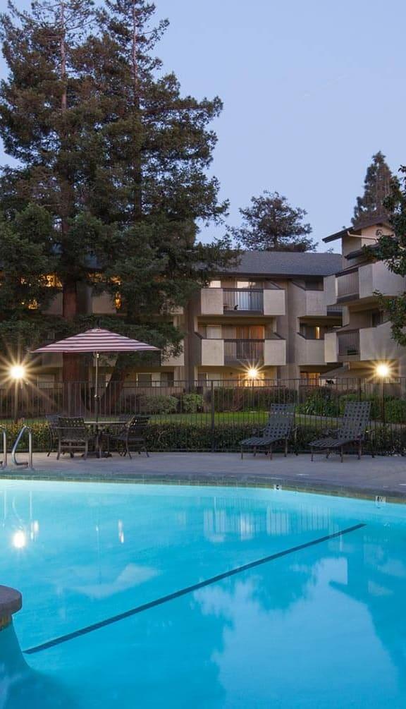 Sparkling Swimming Pool at Carrington Apartments, Fremont, California