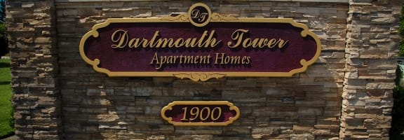 Property Sign at Dartmouth Tower at Shaw, Clovis