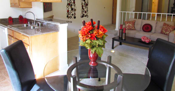 Clarington Apartments dining table